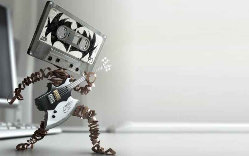 cassette funny Kiss music band Gene Simmons wallpaper