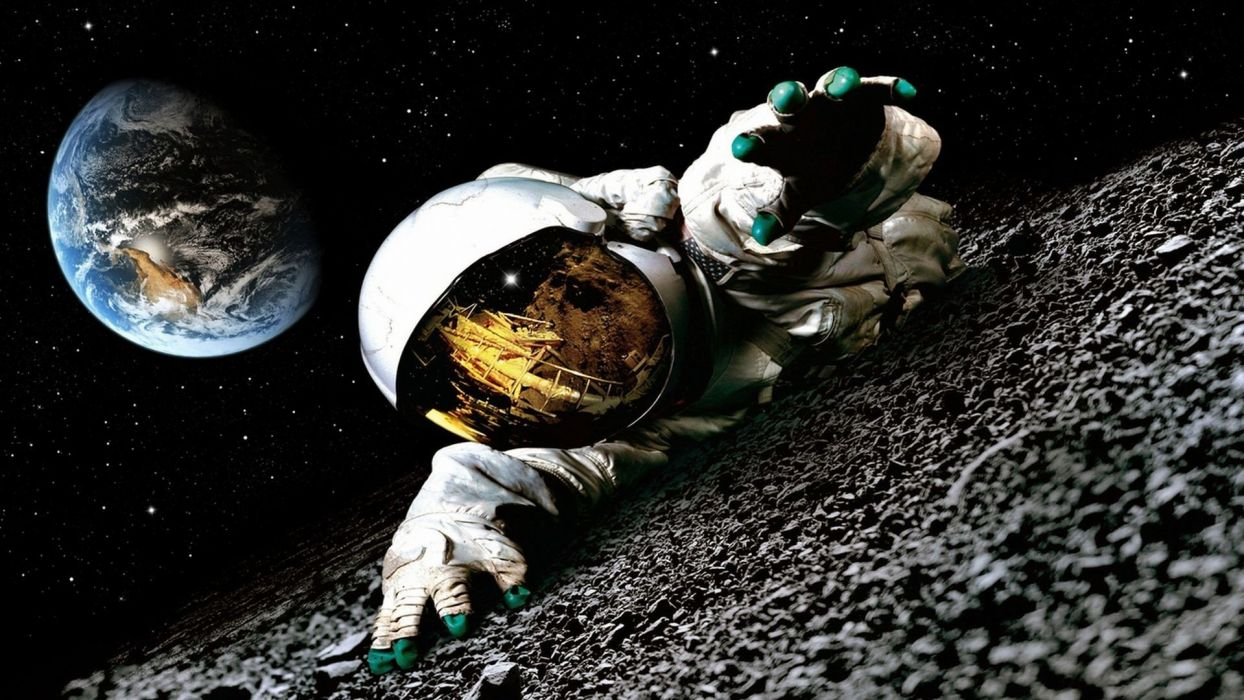outer space movies Moon Earth astronauts science fiction Apollo 18 (movie) wallpaper