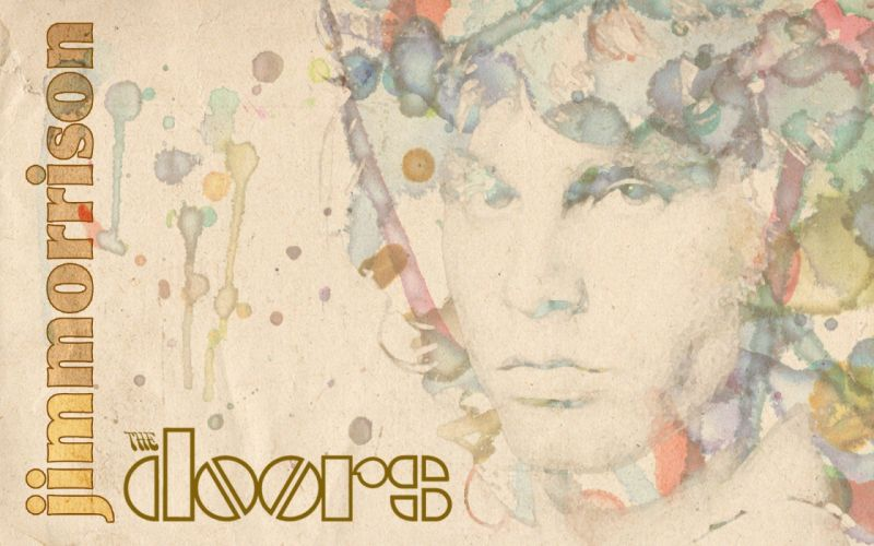 abstract The Doors Jim Morrison wallpaper