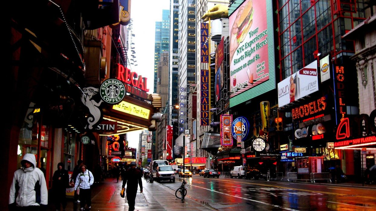landscapes cityscapes streets architecture New York City wallpaper