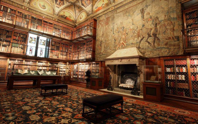 library buildings books bookshelf man-made wallpaper