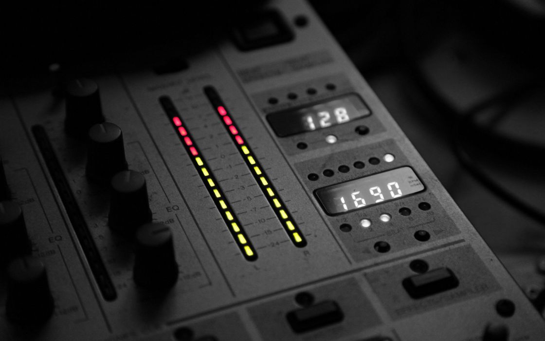 light black and white music sound dj panel wallpaper