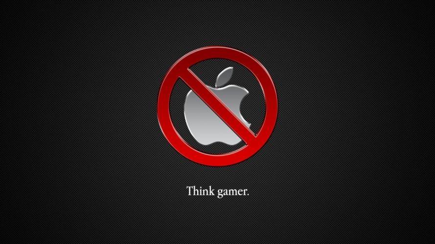 Apple Inc_ logos Mac OS X simple background Anti-Apple wallpaper