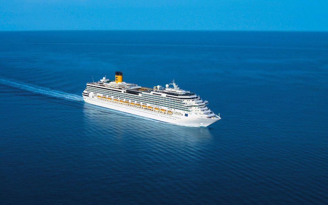 ships cruiser sea wallpaper