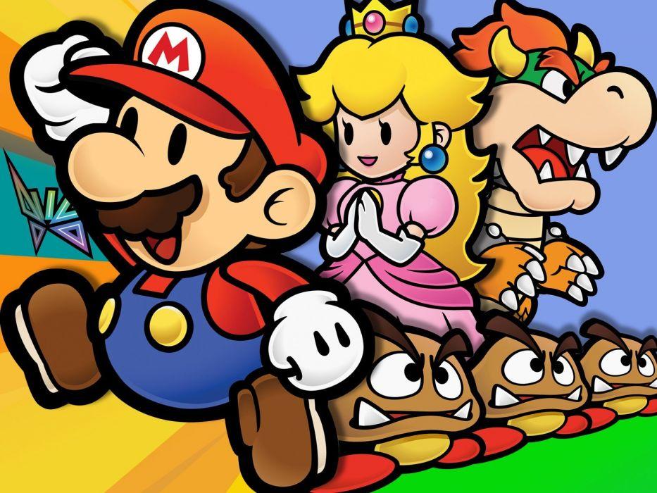 Mario video paper mario game wallpaper