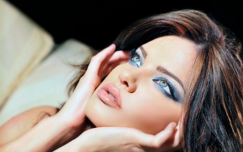 women blue eyes models faces wallpaper