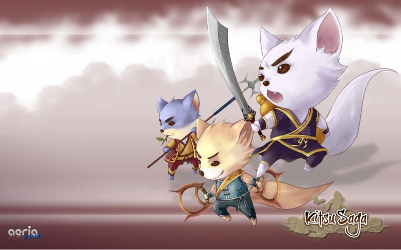 video games MMORPG anime kitsu saga wallpaper