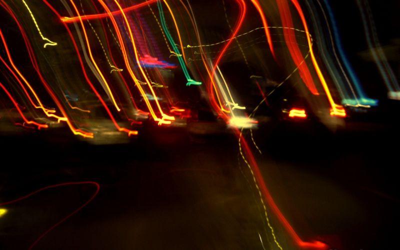 light multicolor digital art light trails wallpaper