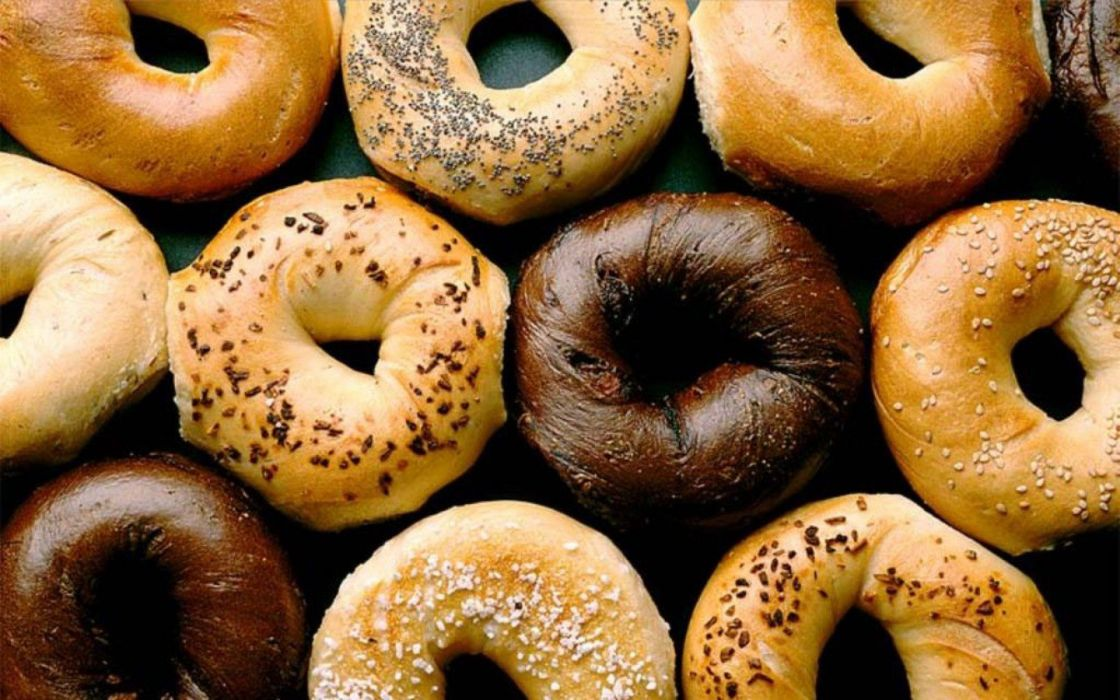 food bagel wallpaper