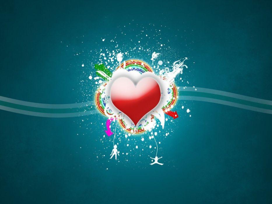 minimalistic artwork hearts wallpaper