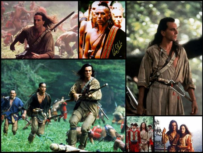 LAST OF THE MOHICANS action adventure drama native american movie film western collage wallpaper