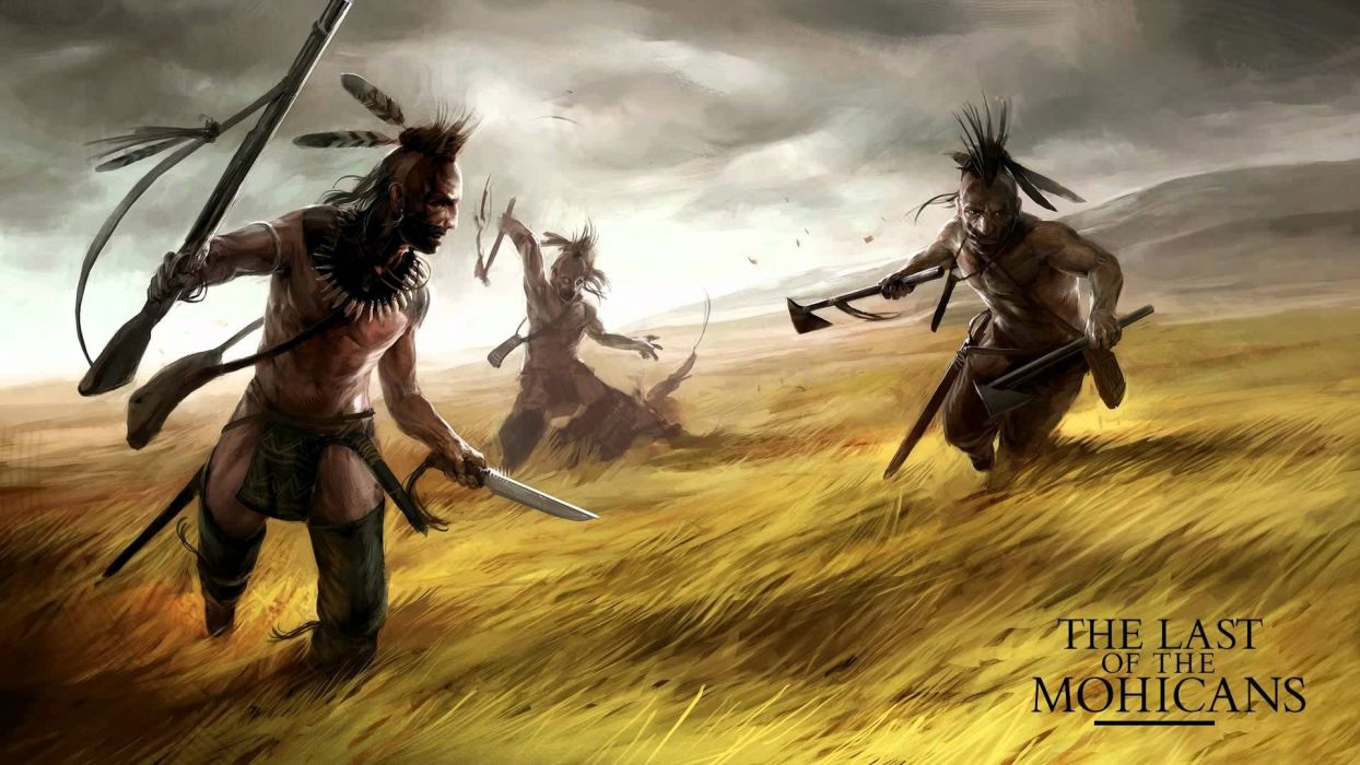 LAST OF THE MOHICANS action adventure drama native american movie film western painting art wallpaper