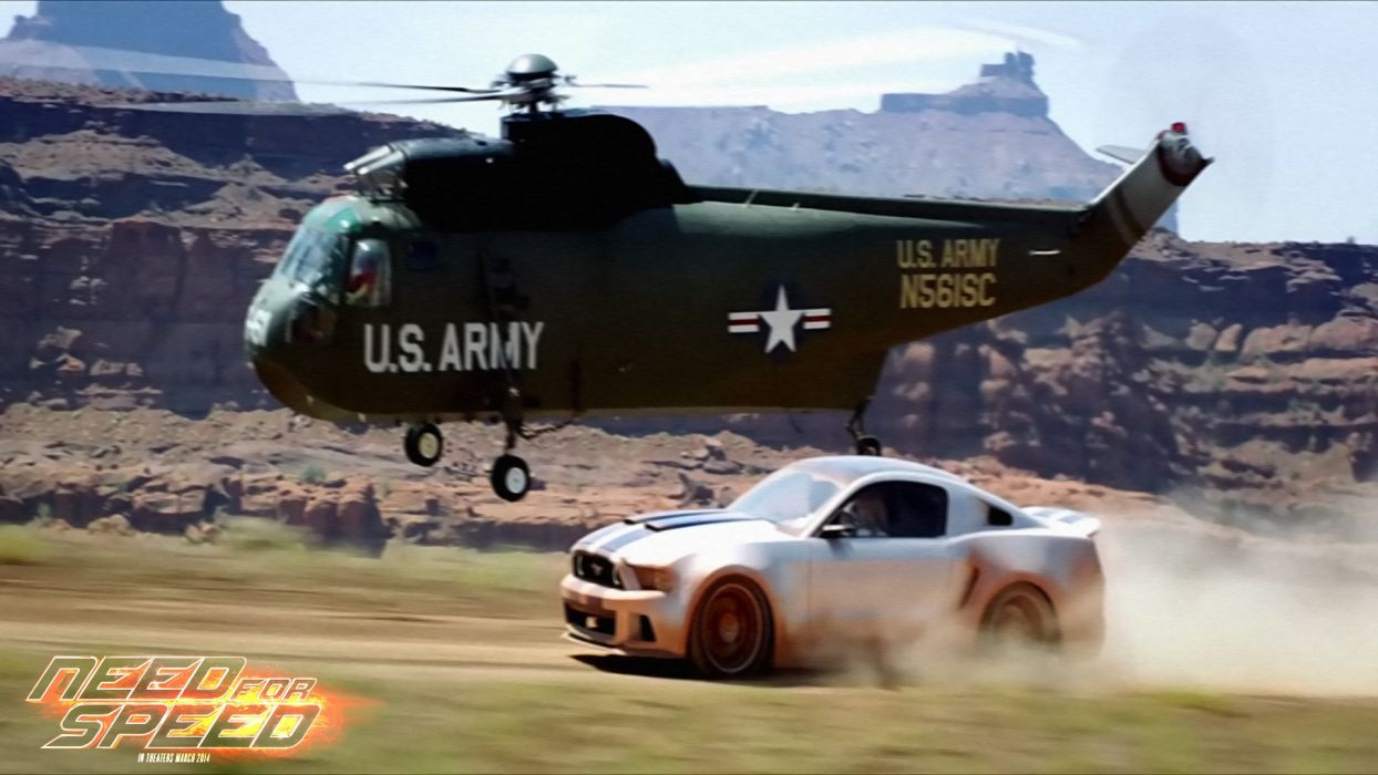 NEED FOR SPEED action crime drama helicopter ford mustang wallpaper