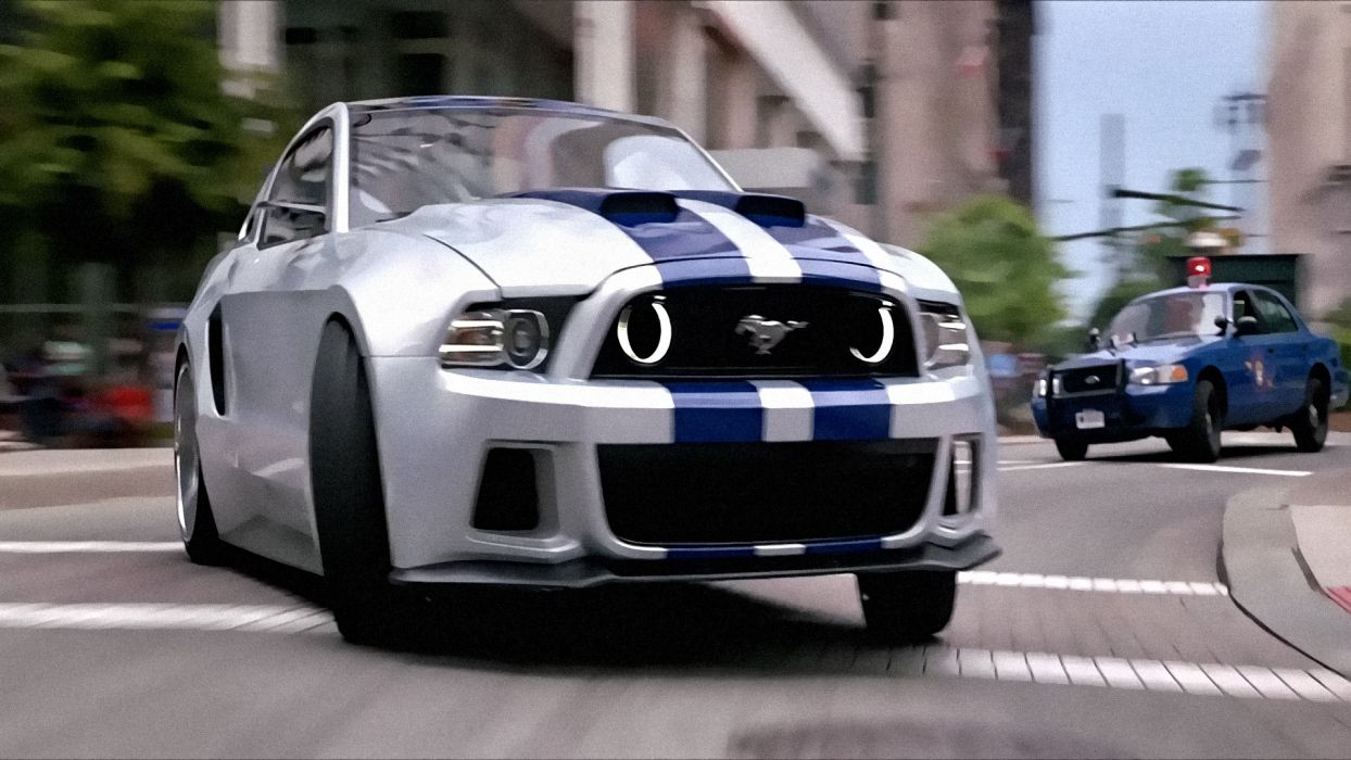 Need For Speed Action Crime Drama Ford Mustang Muscle Wallpaper