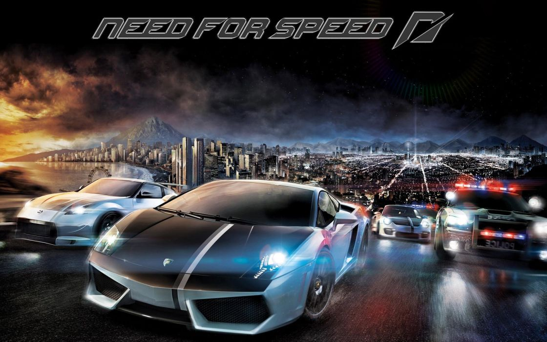 NEED FOR SPEED action police race racing lamborghini supercar poster wallpaper