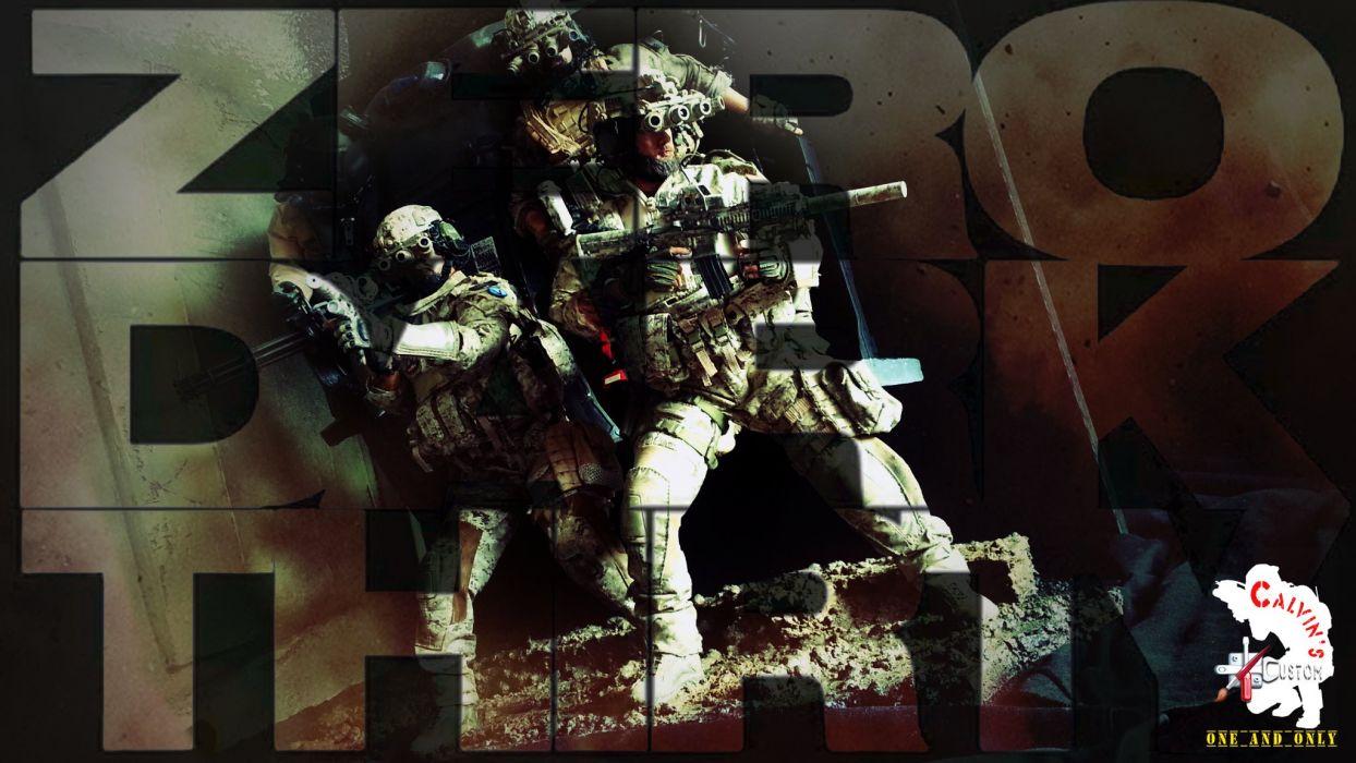 ZERO DARK THIRTY drama history military thriller weapon gun soldier poster wallpaper