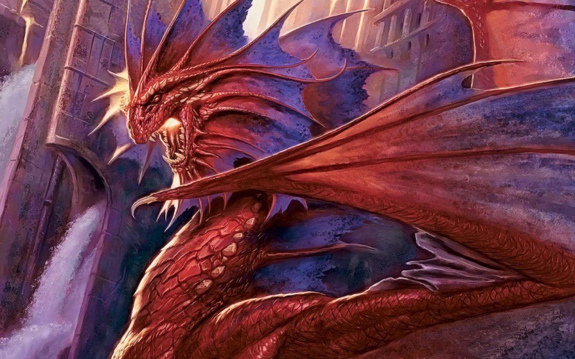 dragons Magic: The Gathering Todd Lockwood wallpaper