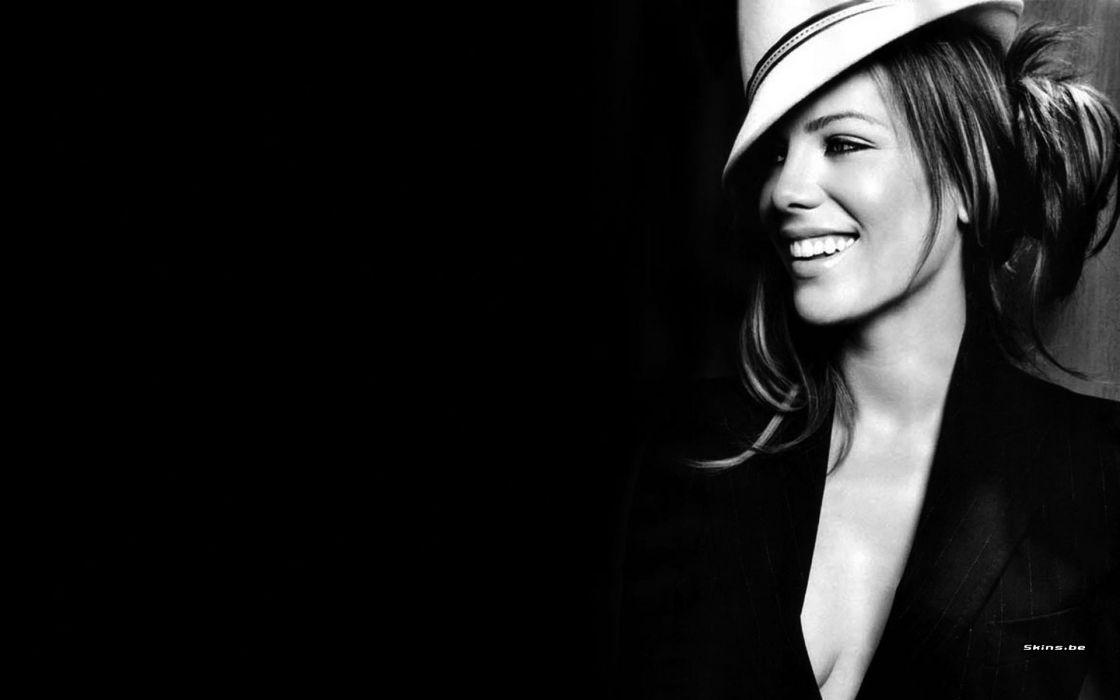 women Kate Beckinsale celebrity monochrome wallpaper