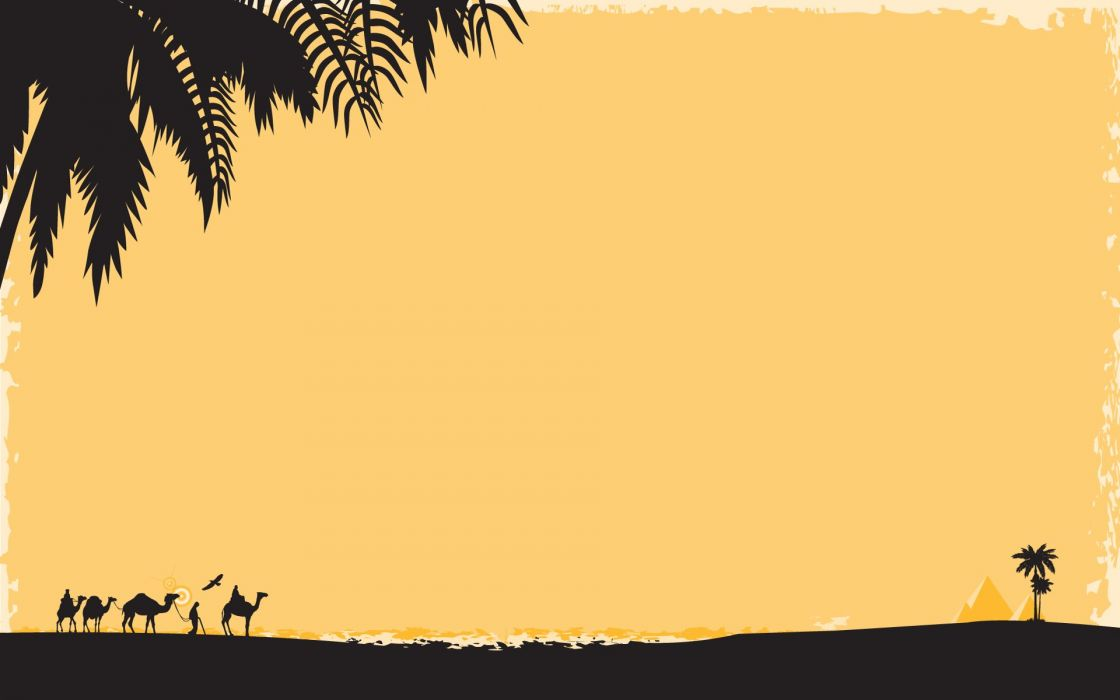 deserts silhouettes Egypt oasis wallpaper