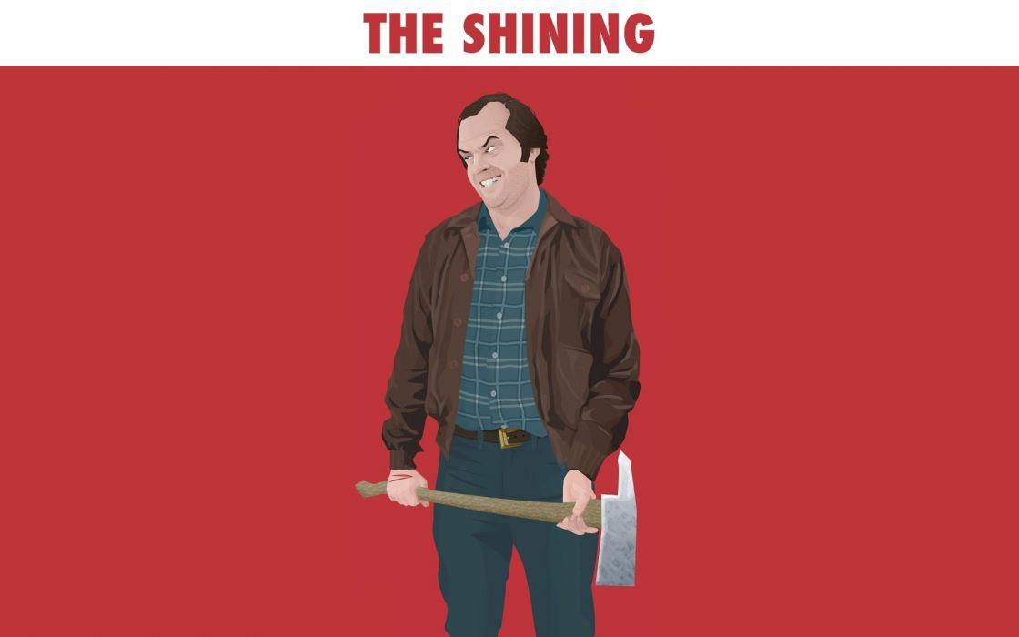 movies The Shining Jack Nicholson artwork Stephen King axe Jack Torrance wallpaper