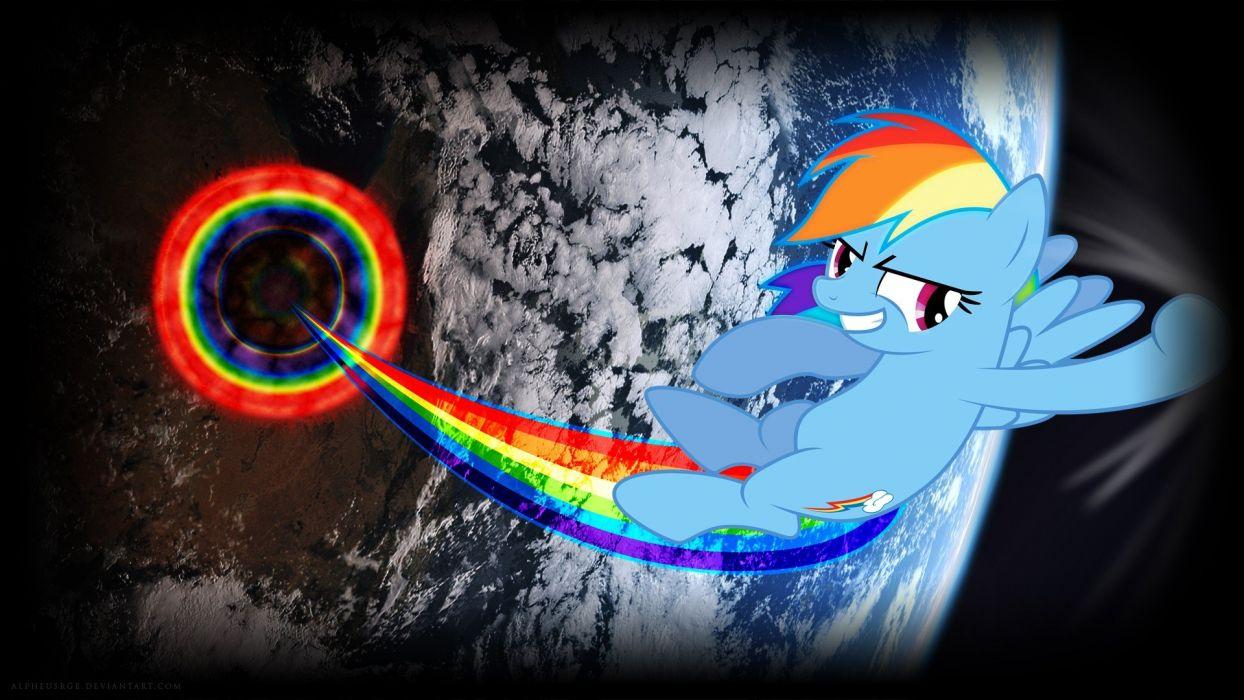 orbit Rainbow Dash My Little Pony: Friendship is Magic wallpaper