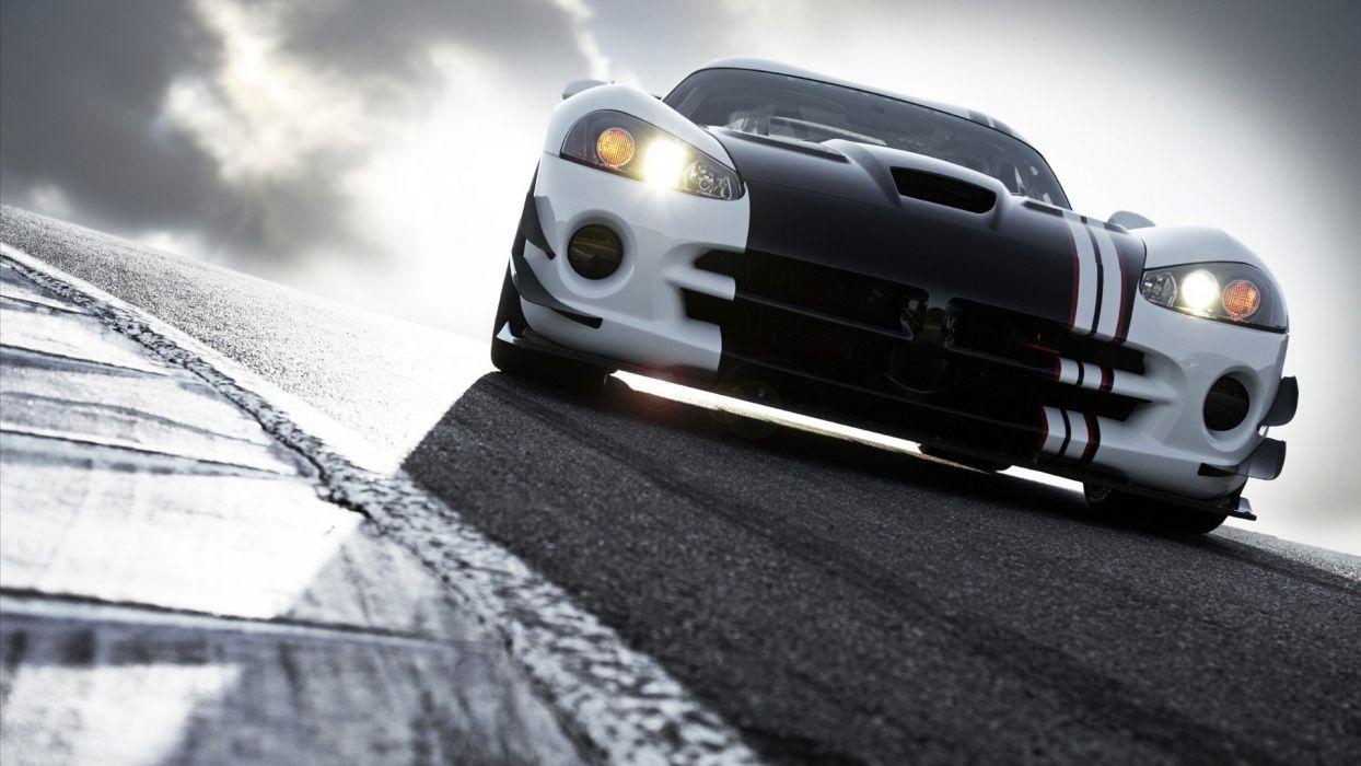 cars Dodge Viper racing wallpaper