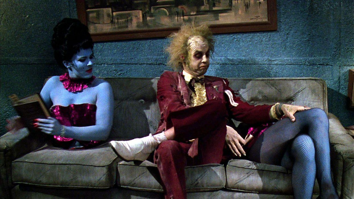 BEETLEJUICE comedy fantasy dark movie film monster horror humor halloween wallpaper