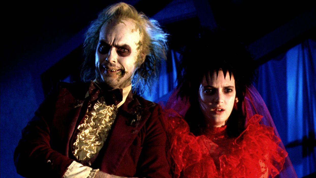BEETLEJUICE comedy fantasy dark movie film monster horror winona ryder wallpaper
