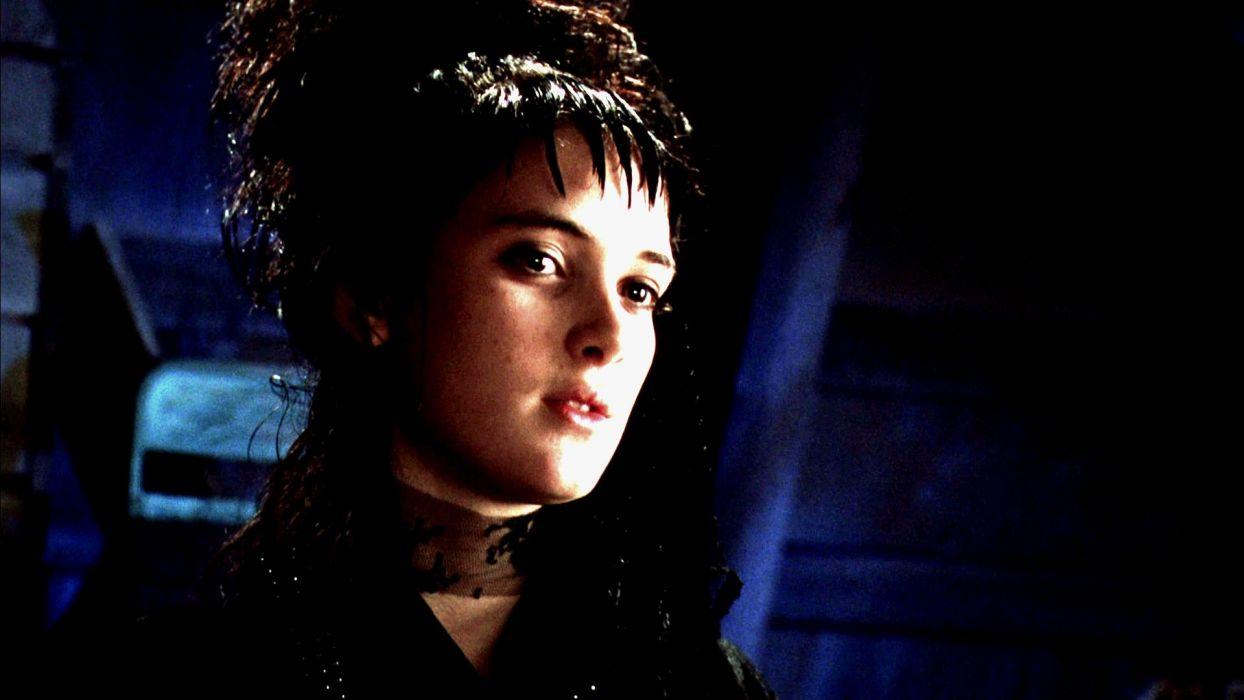 BEETLEJUICE comedy fantasy dark movie film winona ryder gothic halloween wallpaper