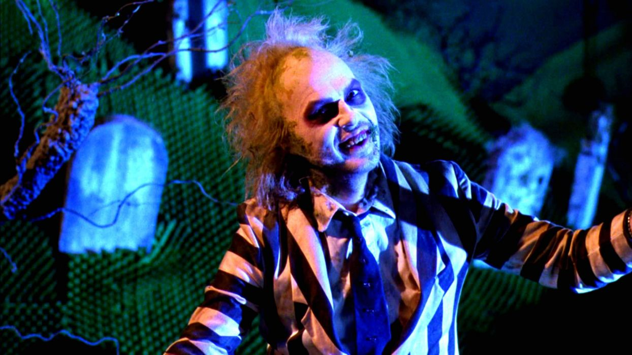 BEETLEJUICE comedy fantasy dark movie film horror halloween monster wallpaper