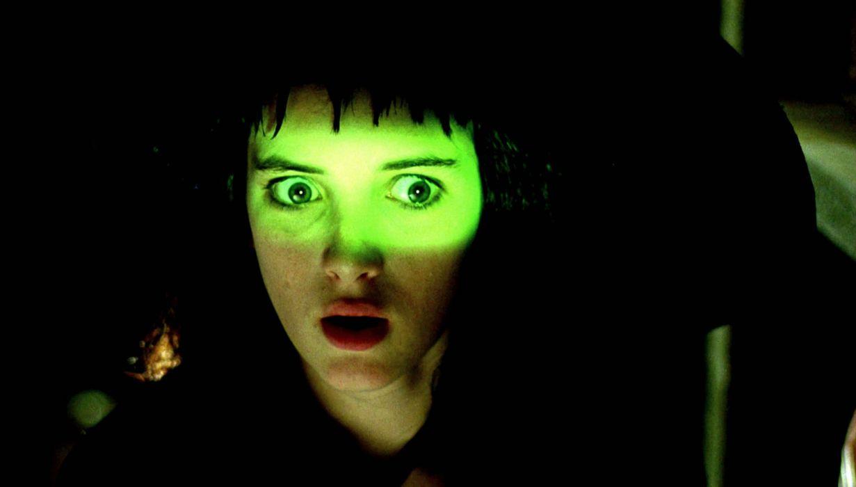 BEETLEJUICE comedy fantasy dark movie film horror winona ryder gothic glow wallpaper