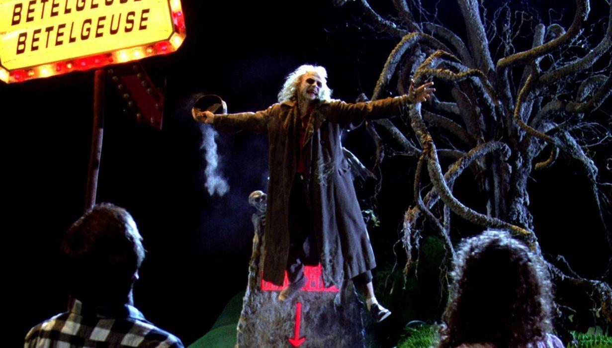 BEETLEJUICE comedy fantasy dark movie film horror halloween wallpaper