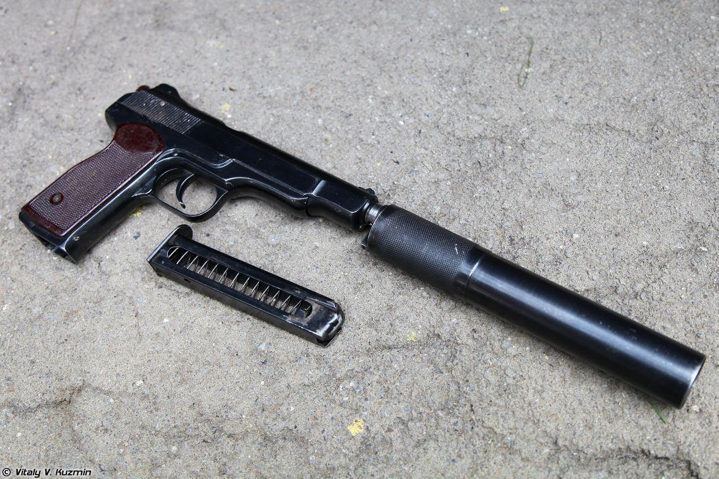 9mm APB and 7 62mm PSS silent pistols wallpaper