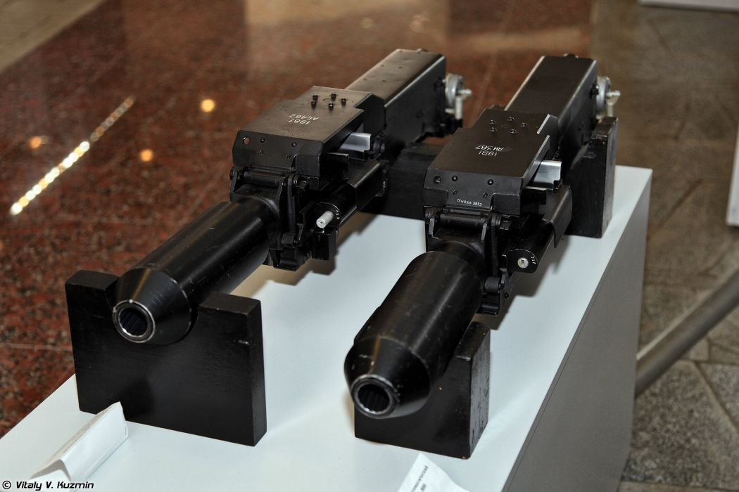 Automatic aviation grenade launchers 9A800 (left) and AP-30 Plamya-A wallpaper