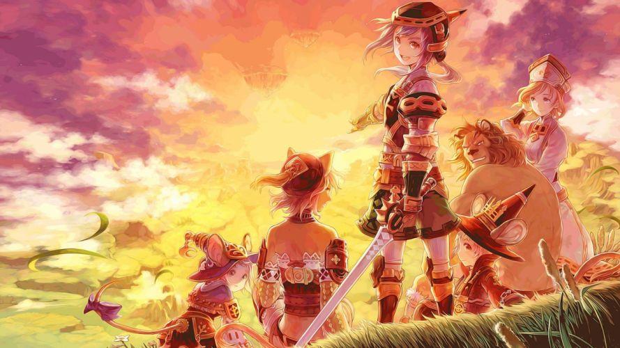 video games armor artwork anime girls swords Lims Odyssey wallpaper