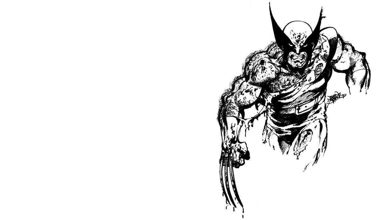 Wolverine artwork simple background wallpaper