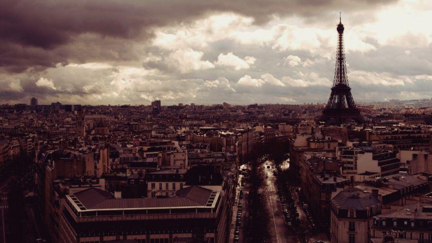 Eiffel Tower Paris landscapes cityscapes architecture France wallpaper