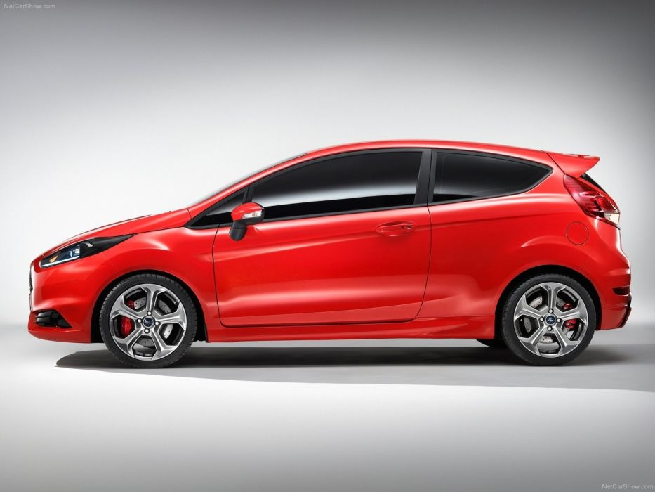 red cars concept art Ford Fiesta wallpaper