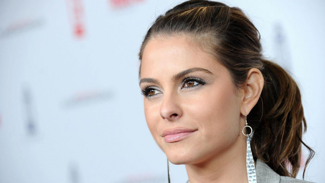 brunettes women close-up actress celebrity brown eyes greek Maria Menounos wallpaper
