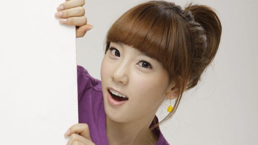 women Girls Generation SNSD celebrity Kim Taeyeon bangs wallpaper