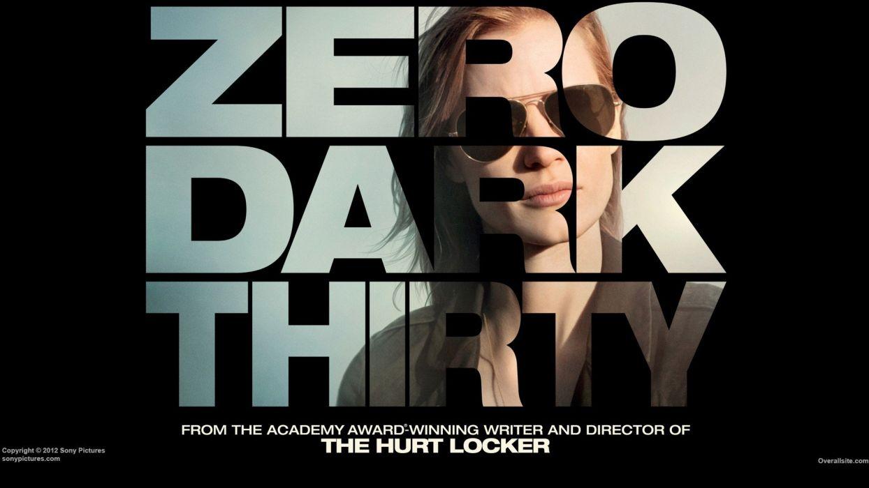 Hurt Locker Movie Posters Jessica Chastain Aviator Glasses Zero Dark