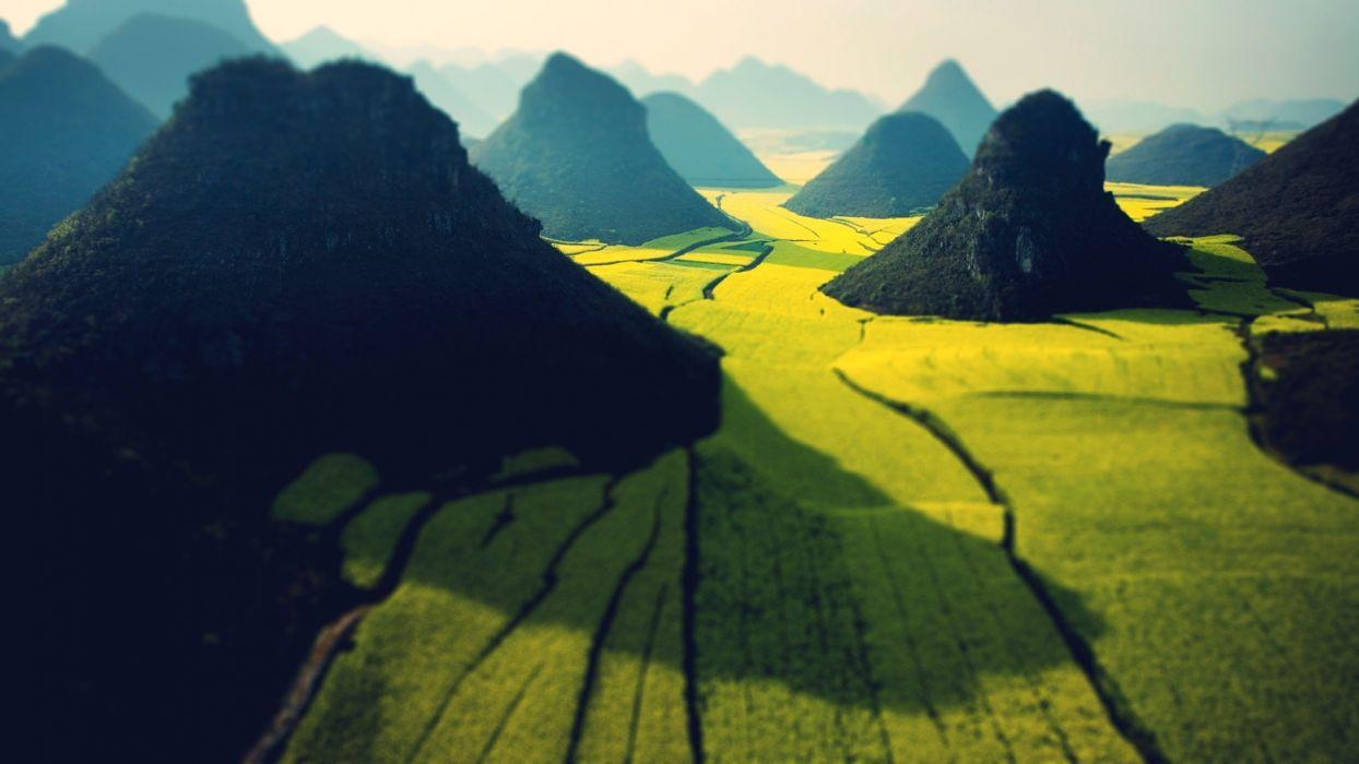 mountains fields wallpaper