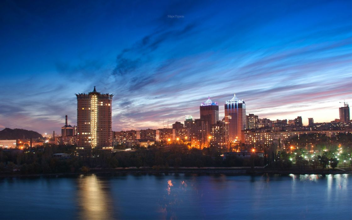 cityscapes Ukraine Donetsk wallpaper