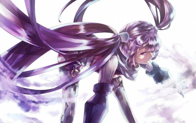 long hair purple hair twintails purple eyes Tales of Graces fighting stance Sophie (Tales of Graces) wallpaper