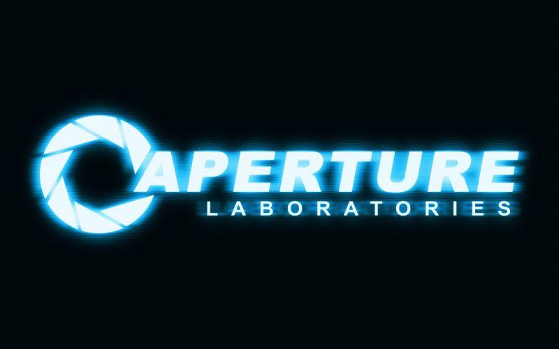 Valve Corporation Portal Aperture Laboratories logos wallpaper
