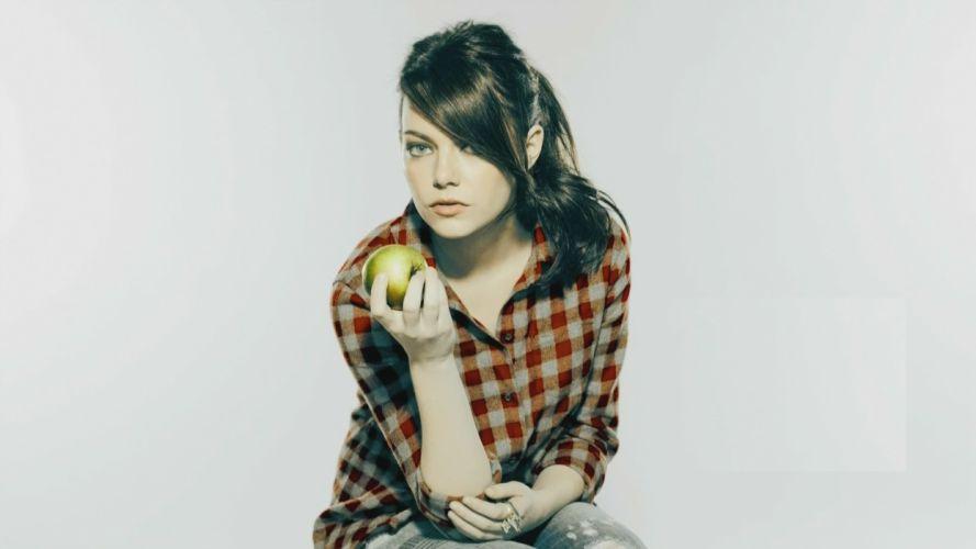 women Emma Stone SNL wallpaper