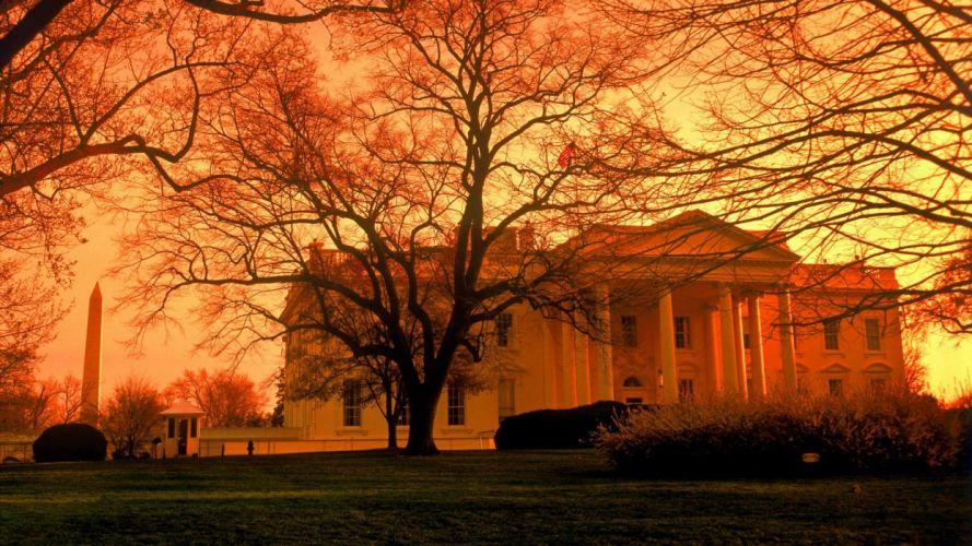 The White House White House dusk wallpaper