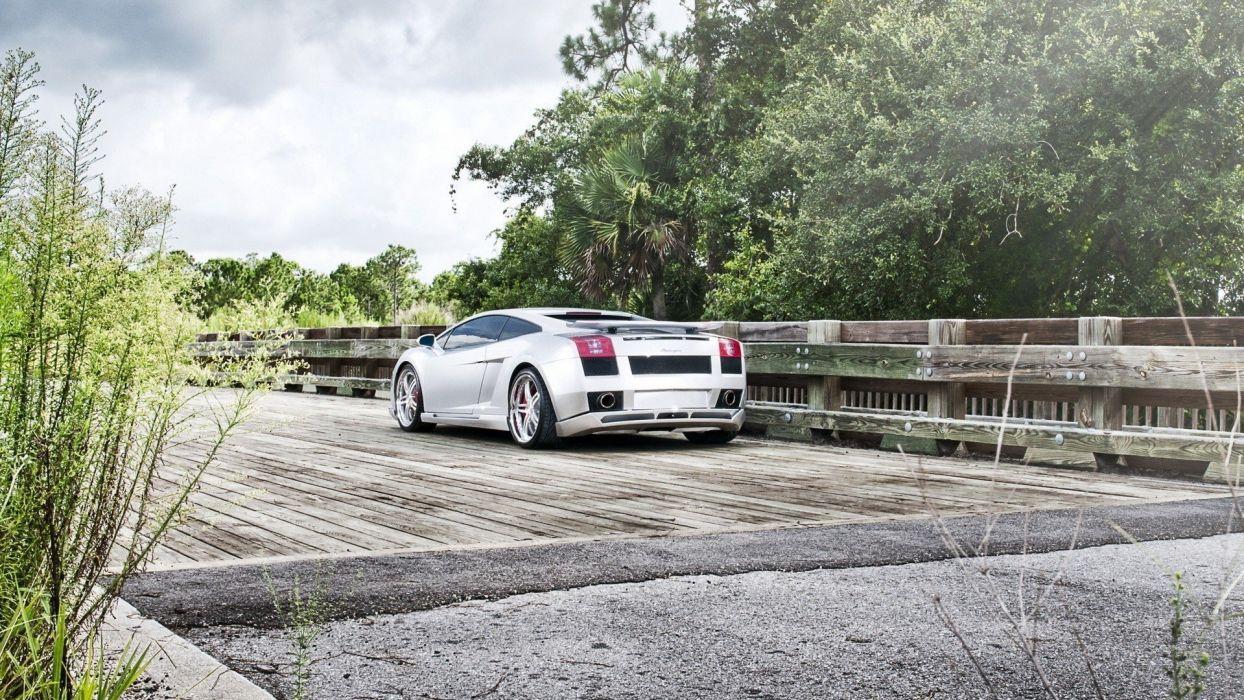 cars bridges Lamborghini Gallardo wallpaper