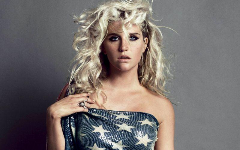 blondes women models Kesha Sebert singers nose ring wallpaper