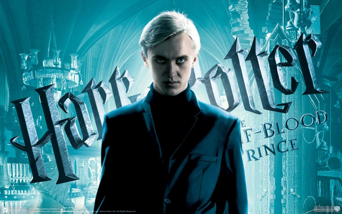Harry Potter and the Half Blood Prince Tom Felton Draco Malfoy wallpaper